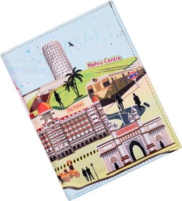 Mad(e) in India Mumbai City Passport Holder(Multicolour)