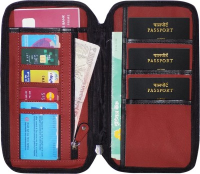 Kan Premium Quality Travel Passport Cover and Travel Document Holder for 3 Passports