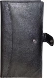 Kan Black Genuine Leather Travel Documen...