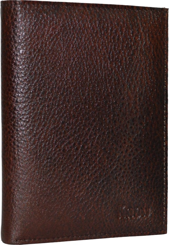 Knott Knott Premium Brown Passport Holder(Brown)