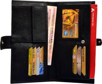 Attache Genuine Leather Travel Passport Case / Card Holder /Cheque Book Holder / Document & Ticket Wallet /Currency Wallet Purse