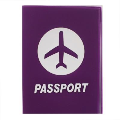 Tootpado Airplane Purple - Portable Folding Silicone Passport Cover Card Holder