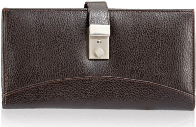 Contrast Men's Coffee Bean Shade Leather Document Holder (passport Holder)