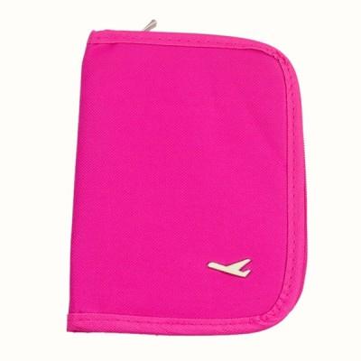 Everyday Desire Travel Passport Organizer Wallet With Zip For Credit Card - Pink(Pink)
