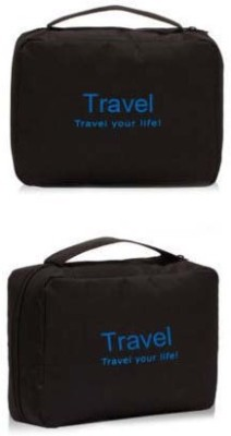 Everyday Desire Travel Cosmetic Makeup Toiletry Case Hanging Bag - Black