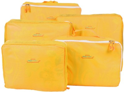 PackNBUY 5 in 1 Travel Bags in bag YELLOW