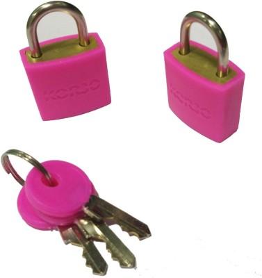 Korjo LLC 20 COLORFUL LOCK 2PK PINK