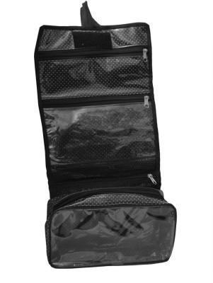 Srajanaa Black Color Dotted Shaving Kit Organiser /Accessories Organiser