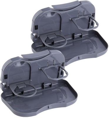 ShadowFax Foldable Car Dining Meal Drink Tray Set of 2 Travel Toiletry Kit