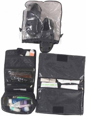 Srajanaa Men's Travel Kit (Shaving Kit, Shoe and Undergarments cover)