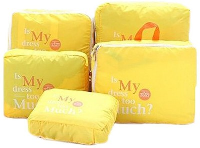 Packnbuy Set of 5 Travel Bags YELLOW
