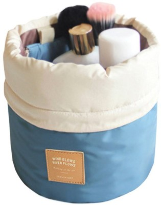 PackNBUY Barrel Shaped Cushioned with Mini Zipper Purse and Transparent Pouch(Blue)