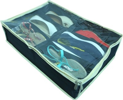 Krio Designs Under the bed shoe organizer with 6 compartment