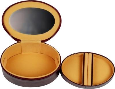 Zint Small Genuine Leather Travel Jewelry Box