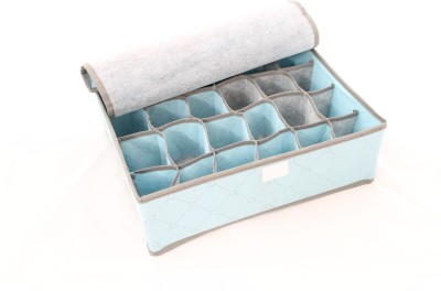 Packnbuy 24 Compartment Foldable Storage Box - Blue Color