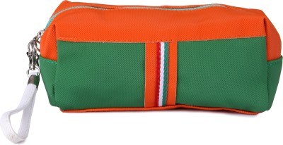 Uberlyfe Orange and Green Pencil Pouch for Kids