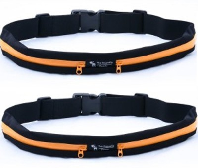 Goldendays Waterproof Exercise Runners Belt With Expandable Storage Pocket(Orange)