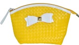 Priya Exports Cosmetic Pouch (Yellow)