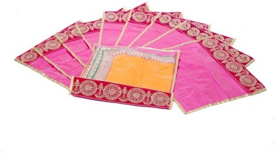 Kuber Industries Flip Saree cover with Lace set of 10 Pcs