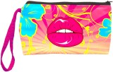 Color Plus Cosmetic Pouch (Pink, Blue)
