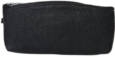 Kuero unisex black travel pouch