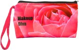 Color Plus Cosmetic Pouch (Pink, Black)