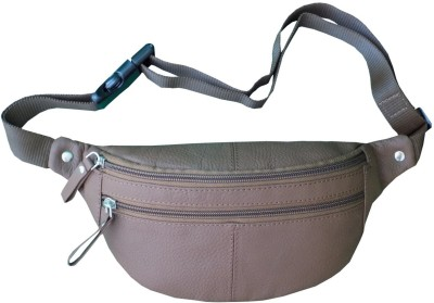 Kan 98 Brown Genuine Leather Travel Waist Bag For Men and Women