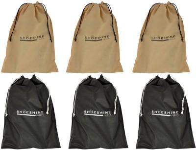ShoeshineIndia Eco-friendly Non-wonen Shoe Bags(Multi)