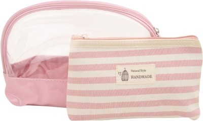Obvio Transline set of 2 pouches pink(Pink)