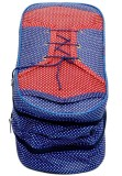 Kuber Industries Shoe Pouch (Blue, Red)