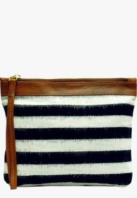 Clean Planet Striped Ikat Clutch