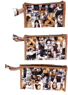 Kuber Industries Make Up Kit 3 Pcs Set Jewellery Vanity Box