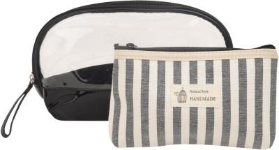 Obvio Transline set of 2 pouches black(Black)