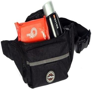 Pack My Bag Unisex black waist bag