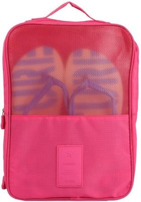 Uberlyfe Portable Waterproof Travel Shoe Bag cum Organizer - Pink
