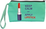 Color Plus Cosmetic Pouch (Green, Red)