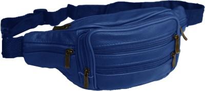 Psylane Blue Leather Waist Pouch