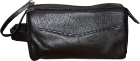 Kan Style 98 Black Premium Quality Leather Hand Bag For Men Travel Toiletry Kit(Multicolor)