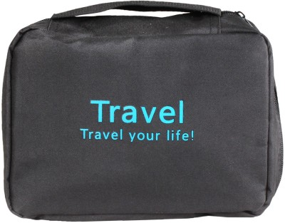 Pretty Krafts Travel Organizer Bag Black Color(Black)