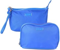 Uberlyfe Bright Blue Multipurpose Pouch or Purse for Women - Set of 2
