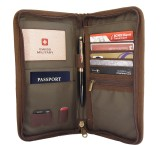 Swiss Military Passport Pouch (Brown)