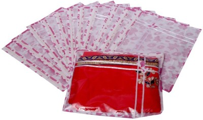 Kuber Industries Printed Non Wooven Saree Cover Set of 12 Pcs