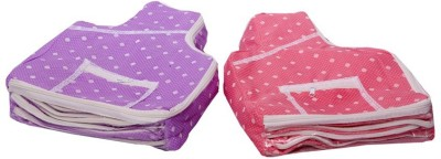 Kuber Industries Blouse Cover in Polka Dots Set of 2 Pcs