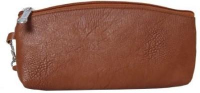 Kuero unisex brown travel pouch