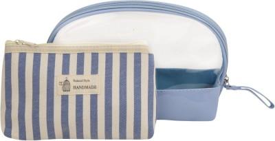 Obvio Transline set of 2 pouches vertical blue(Blue)