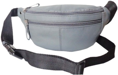Style 98 Genuine Leather Travel Money Pouch for Men and Women Waist Bag(Grey)