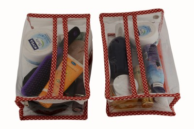 K&P Pack Of 2 Rectangle Multipurpose Pouch Of Same Sizes(Red)