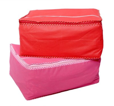 Kuber Industries Saree Cover in Heavy Non Wooven Material Set of 2 Pcs (Capacity of 10 to 15 Sarees)