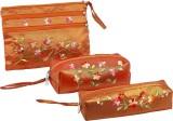 Asian Artisans Cosmetic Pouch (Orange)