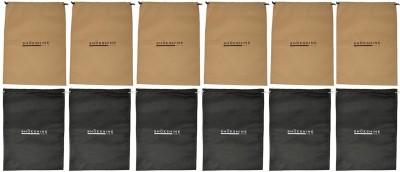 ShoeshineIndia Stylish Non-Woven Shoe Bag(SB_6_Beige_6_Black)